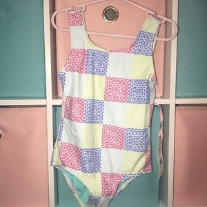 Girls NWT Vineyard Vines one piece bathing suit XS